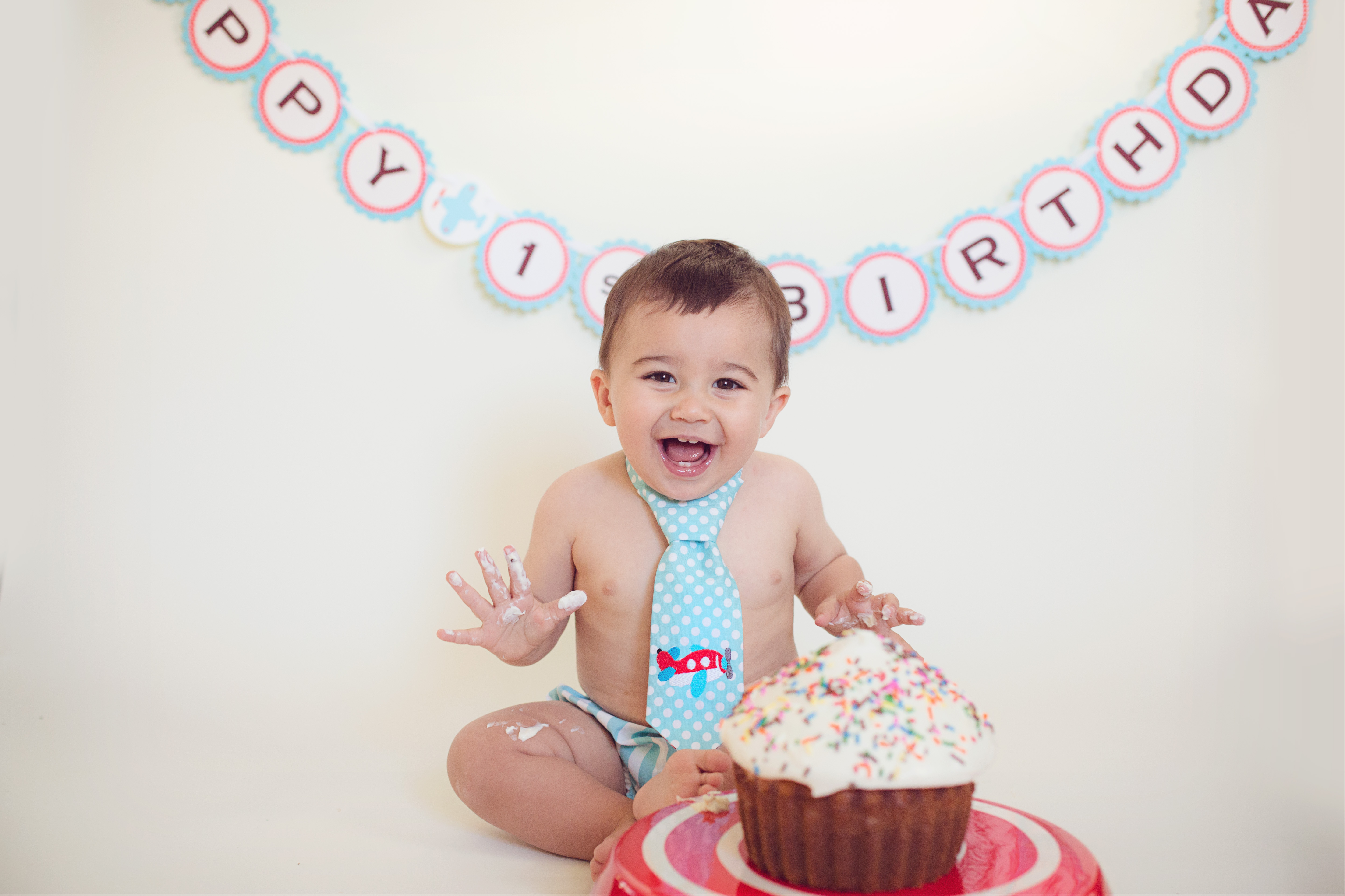 This Was A Fun Little Cake Smash Session With Very Happy Just Turned 1 Year Old Im Not So Sure He Loved The All That Much But Did